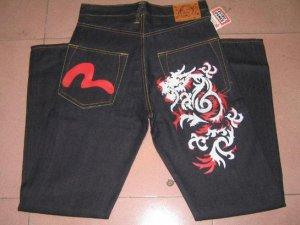 Evisu Dragon and logo Jean