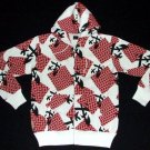 Evisu Hoodie white with red and black accent