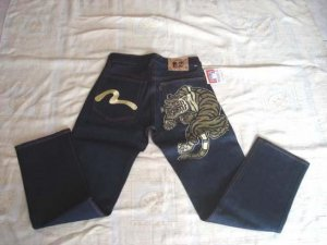 Evisu Jeans with logo and tiger
