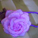 Purple sparkly rose headband