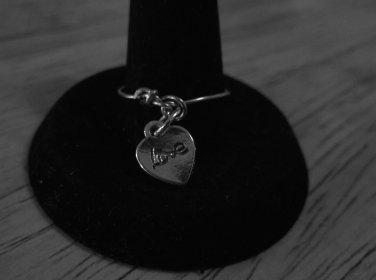Silver metal charm ring