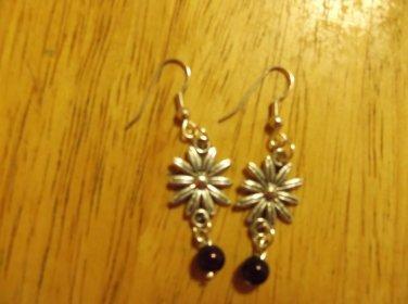 Flower silver metal sm. earrings
