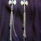 Axe and Chain Earrings