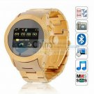 s766 1.5 inch Touch Screen Quad Band Dual SIM Cell Phone Watch Camera Bluetooth gold color