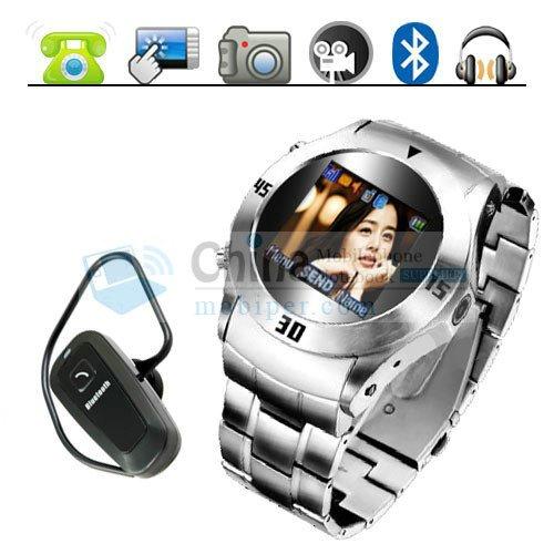 Bracelet MQ006 Stylish Stainless Steel Watch Phone Quadband Bluetooth