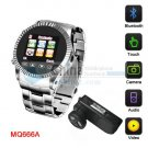 MQ666 Watch Phone Cool Blutooth Touch Screen Camera Stainless Steel