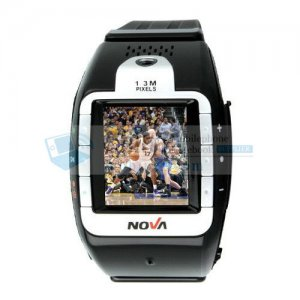 N800 Tri Band Bluetooth Touch Screen Watch Cell Phone Black and Silver