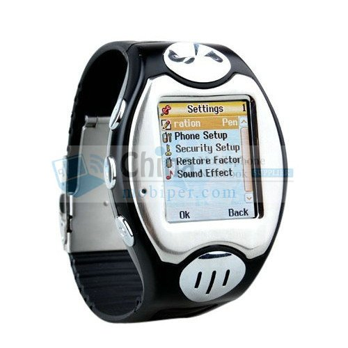 S66 Quad Band Single Card Thinnest Watch Phones