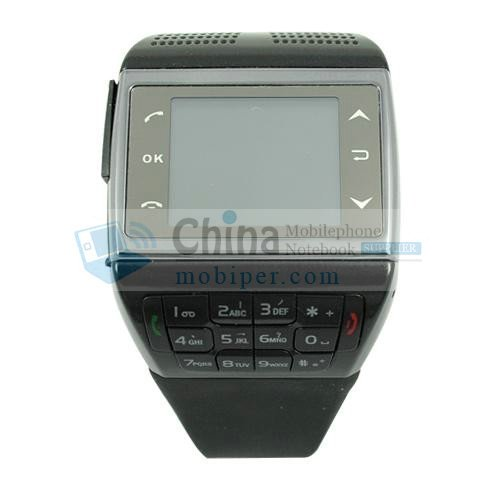 V6 Quad Band Signle SIM Bluetooth Wrist Watch Cell Phone With Numberic Keyboard
