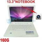 A80 13.3inch Mini Netbook Laptop Notebook 160GB HD Wifi Window 7/XP