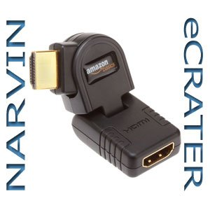 AmazonBasics HDMI Male to Female Swivel Adapter