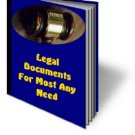 Legal Documents For Most Any Need