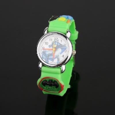 green Batman Cute wrist watch for children