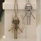 NEW Fashion Robot Shape Pendant Necklace Bronze chain
