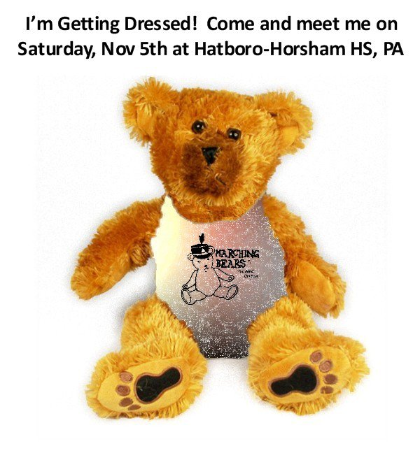 Quakertown HS Marching Band Uniform Teddy Bear - 2010 and earlier