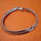 Brand New Unisex Silver Tone Chained Bracelet