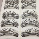 10 Pairs Natural False Eyelashes, Long Thick Makeup Eyelashes #001