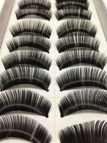 10 Pairs Natural False Eyelashes, Long Thick Makeup Eyelashes #002