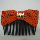 Ladies Multi-Color Heart Print Hair Comb