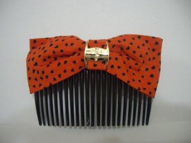Ladies Multi-Color Heart Print Hair Comb