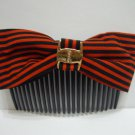 Ladies Multi-Color Stripes Print Hair Comb