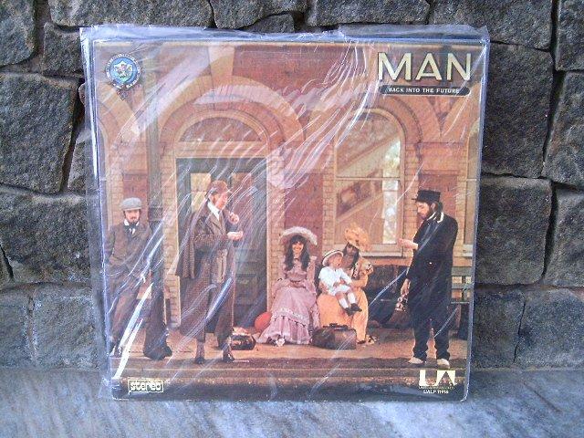 MAN Back Into The Future LP 1974 ROCK MUITO RARO