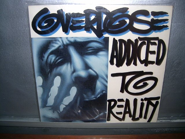 OVERDOSE addicted to reality LP 1990 THRASH METAL*