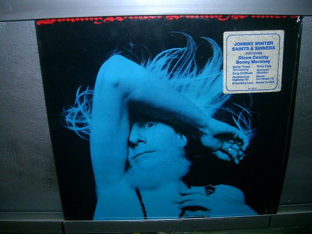 JOHNNY WINTER saints and sinners LP 1974 IMPORTADO SEMI-NOVO MUITO RARO