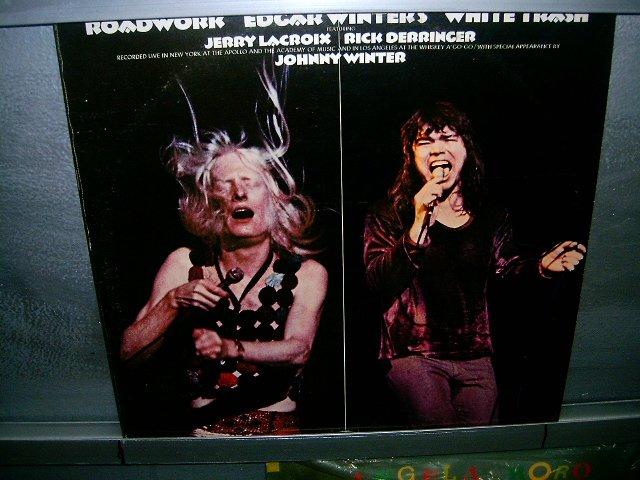 EDGAR WINTERS white trash roadwork LP 1972 IMPORTADO SEMI-NOVO MUITO RARO