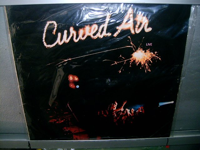 CURVED AIR live LP 1975 ROCK**