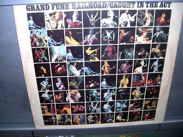GRAND FUNK RAILROAD caught in the act LP 1975 ROCK MUITO RARO VINIL