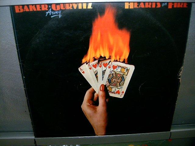 BAKER GURVITZ ARMY hearts on fire LP 1976 ROCK MUITO RARO VINIL