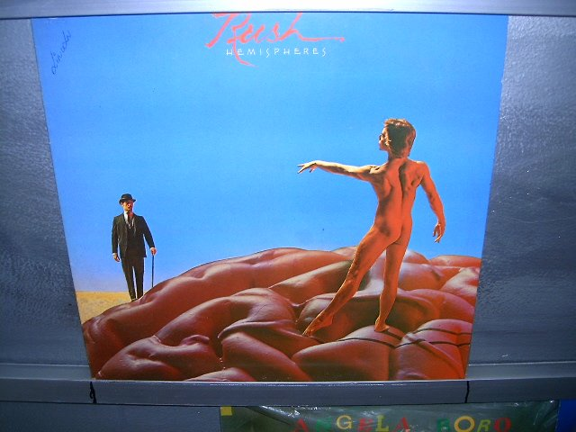 RUSH hemispheres LP 1978 PROGRESSIVE ROCK*