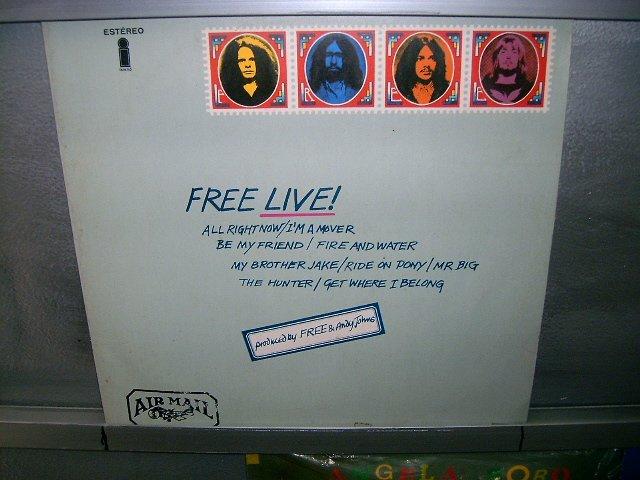 FREE free live! LP 1972 ROCK EXCELENTE MUITO RARO VINIL