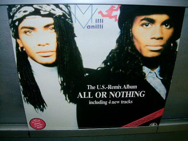 MILLI VANILLI all or nothing LP 1989 BLACK MUSIC SEMI-NOVO MUITO RARO VINIL