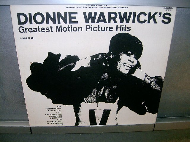 DIONNE WARWICK greatest motion picture hits LP MUITO RARO VINIL