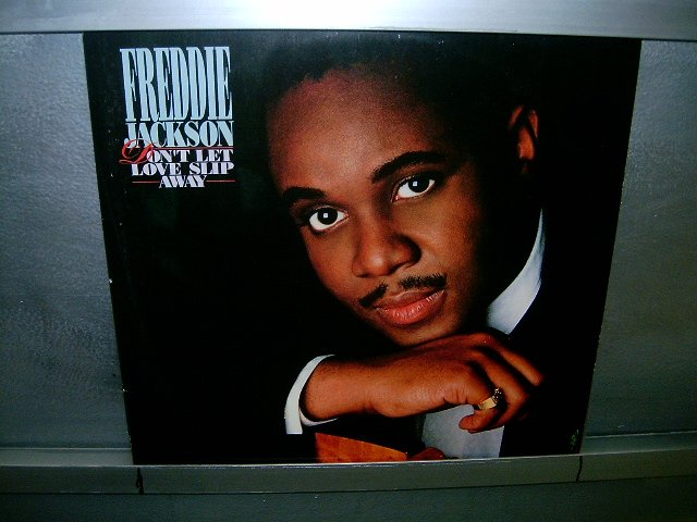 FREDDIE JACKSON don't let love slip away LP 1988 BLACK MUSIC SEMI-NOVO MUITO RARO VINIL