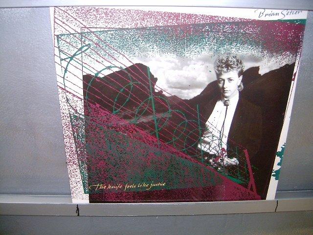 BRIAN SETZER the knife feels like justice LP 1986 NEW WAVE SEMI-NOVO MUITO RARO