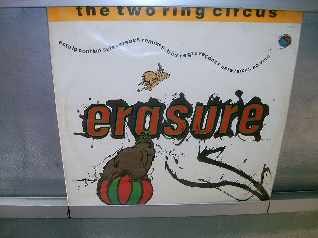 ERASURE the two ring circus 2LP 1986 SYNTH POP EXCELENTE MUITO RARO VINIL