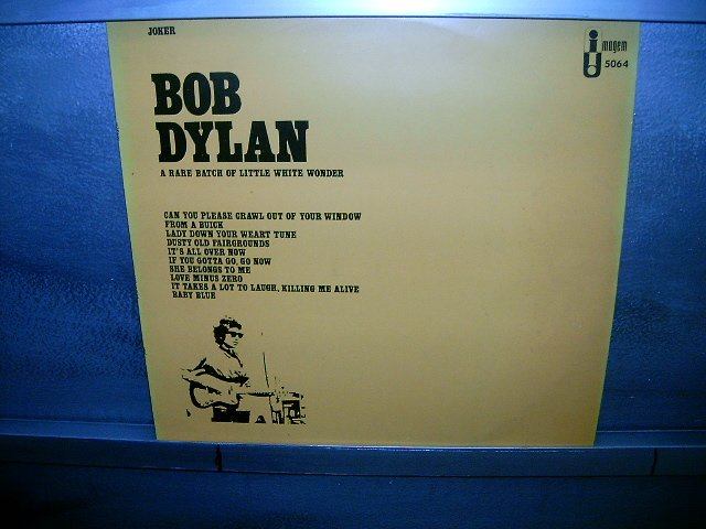 BOB DYLAN a rare batch of little white wonder LP 1978 ROCK EXCELENTE MUITO RARO VINIL