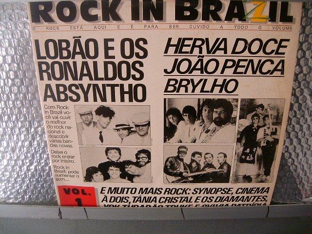 ROCK IN BRAZIL rock in brazil LP 1985 ROCK MUITO RARO VINIL