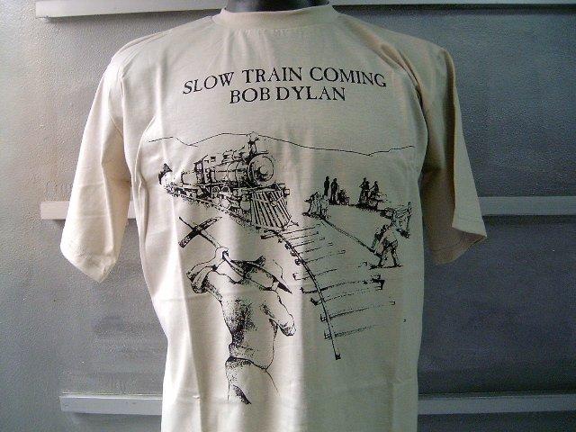 BOB DYLAN slow train coming T SHIRT BEIGE L