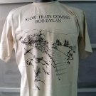 BOB DYLAN slow train coming T SHIRT BEIGE L