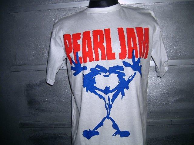 PEARL JAM T SHIRT  WHITE L