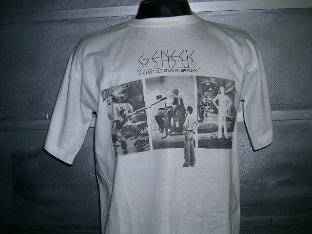 GENESIS the lamb lies down on broadway T SHIRT  WHITE L