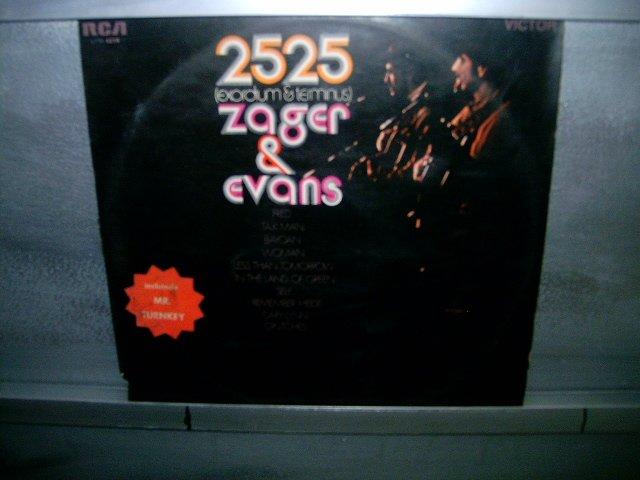 ZAGER AND EVANS 2525 (exordium and terminus) LP 1969 ROCK MUITO RARO VINIL