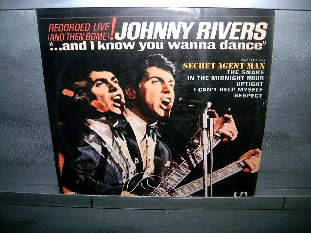 JOHNNY RIVERS and i know you wanna dance LP 1976 ROCK MUITO RARO VINIL