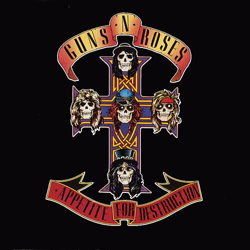 GUNS N' ROSES appetite for destruction CD 1987 HARD ROCK