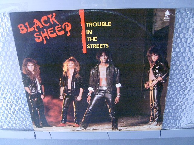 BLACK SHEEP trouble in the streets LP 1986 HARD ROCK**