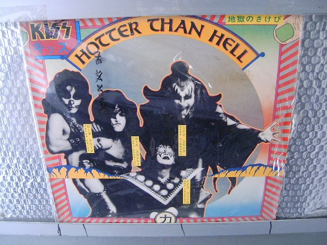 KISS hotter than hell LP 1974 ROCK MUITO RARO VINIL